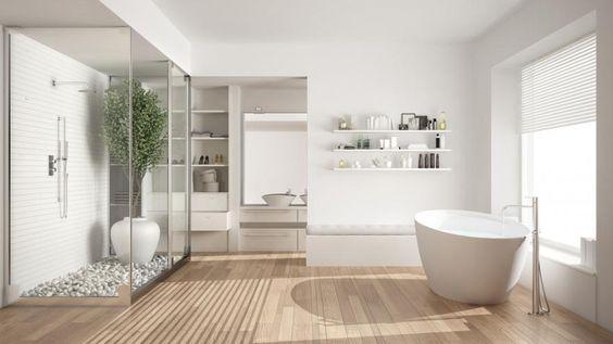 Une salle de bains au style scandinave